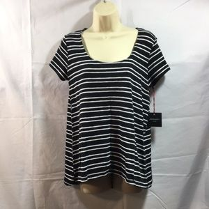 Cynthia Rowley Top Blouse Striped Size Medium